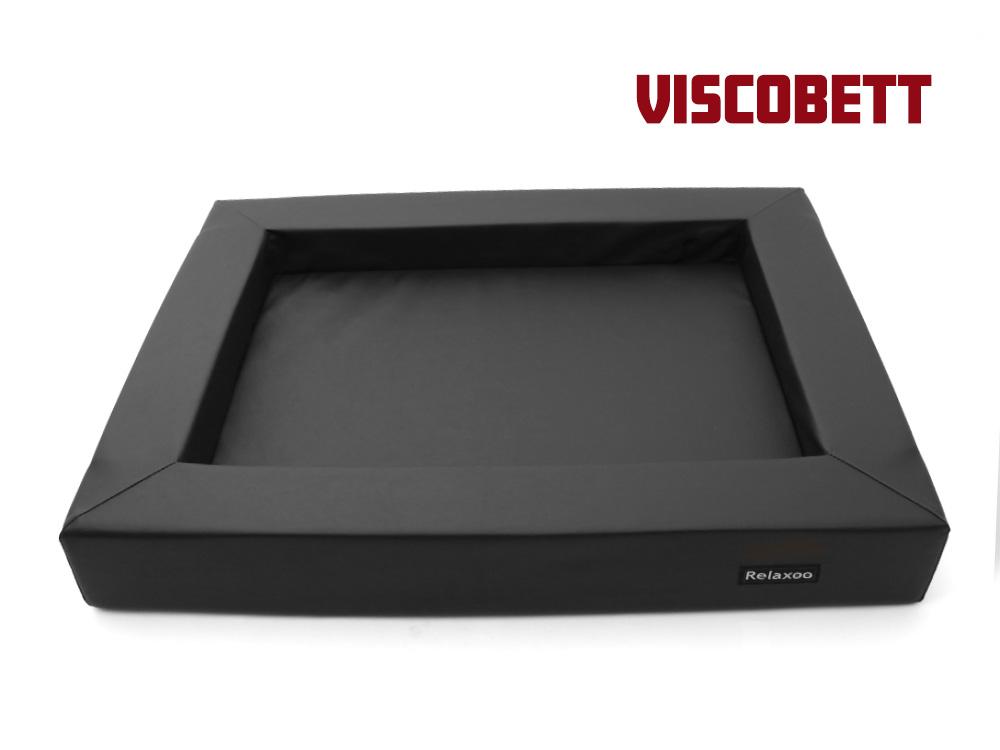 Relaxoo Viscobett Hundebett V2  -XL- schwarz