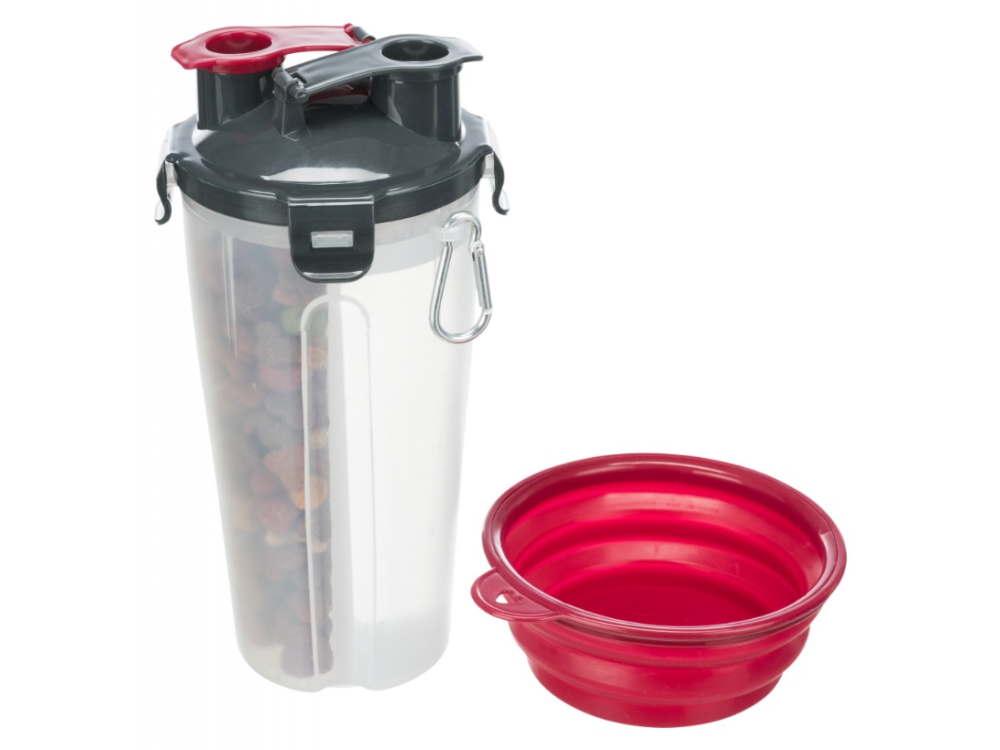 Hundefutter- und Wasserbehälter für unterwegs