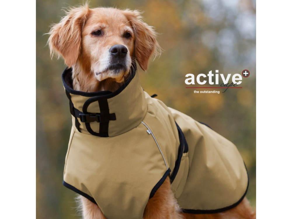 Active Cape Plus Hundemantel mit Lammfleecefutter sand