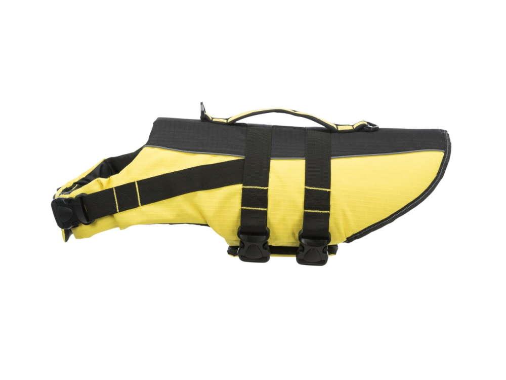 Schwimmweste für Hunde schwarz/gelb