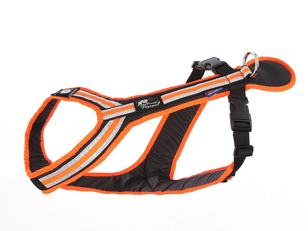 Zero-DC Safety Zug- und Führgeschirr für Hunde orange/schwarz