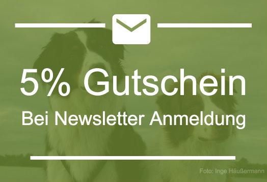 Newsletter und 5% Gutschein