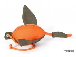 Firedog Enten Dummy 400 gr. mit Wurfhilfe khaki orange