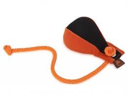 Marker Dummy Ball Medium mit Wurfhilfe schwarz/orange
