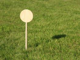 Fährtenschild Markierungsschild Naturholz