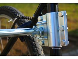 Kleinmetall Zweithalter für Fahrradhalter Dogrunner
