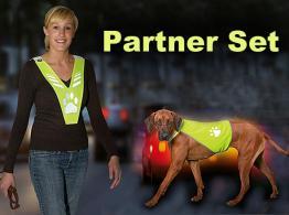Partner Set Sicherheitweste für Hund & Halter