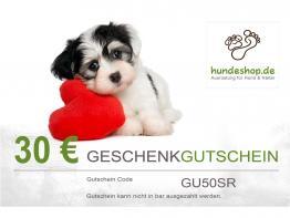hundeshop.de Geschenk Gutschein per Post