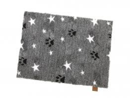 Vetbed™ Isobed SL anthrazit meliert Paws & Stars 100 x 75cm