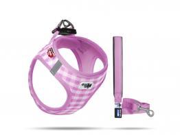 Curli Welpengeschirr Air-Mesh mit Leine pink