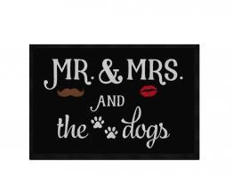 Pfotenschild Design Fußmatte MR. MRS. and the dogs