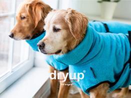 Dryup Cape Hundebademantel Cyan