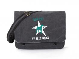 Airedale Canvas Tasche schwarz Dog Star