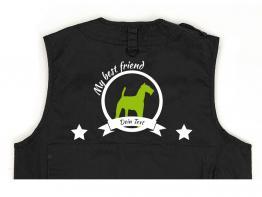 Airedale Hundesport Weste schwarz Best Friend