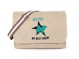 Akita Canvas Tasche sahara Dog Star