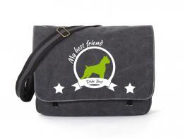 American Staffordshire Terrier Canvas Tasche schwarz
