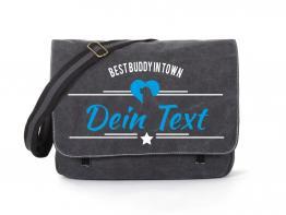 Berner Sennenhund Canvas Tasche schwarz Best Buddy