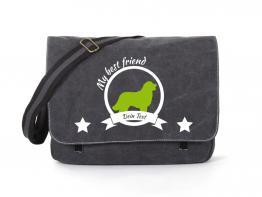 Berner Sennenhund Canvas Tasche schwarz