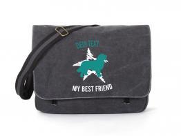 Berner Sennenhund Canvas Tasche schwarz Dog Star