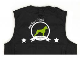 Boxer Hundesport Weste schwarz Best Friend