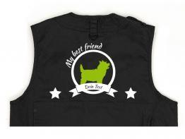 Cairn Terrier Hundesport Weste schwarz Best Friend