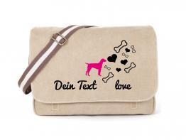 Dalmatiner Canvas Tasche sahara Bones & Hearts