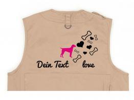 Dalmatiner Hundesport Weste khaki Bones & Hearts