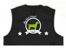 Dalmatiner Hundesport Weste schwarz Best Friend