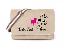 Labrador Canvas Tasche sahara Bones & Hearts