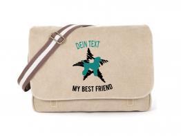 Pudel Canvas Tasche sahara Dog Star