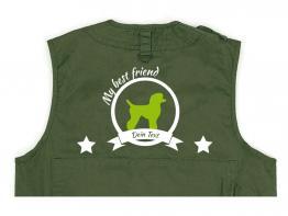 Pudel Hundesport Weste oliv Best Friend