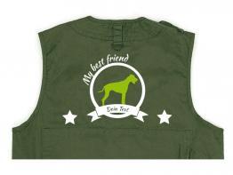 Rhodesian Ridgeback Hundesport Weste oliv Best Friend
