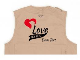 Rottweiler Hundesport Weste khaki My Dog Love