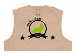 Shetland Sheepdog Hundesport Weste khaki Best Friend