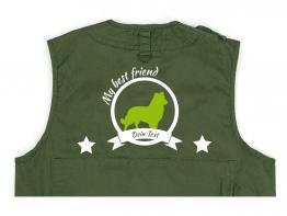 Shetland Sheepdog Hundesport Weste oliv Best Friend