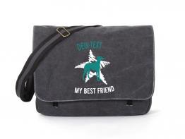 Whippet Canvas Tasche schwarz Dog Star