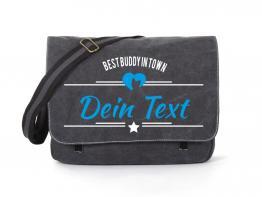 Yorkshire Terrier Canvas Tasche schwarz Best Buddy