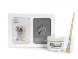 Pet-Imprint 3-D Pfotenabdruck Set mit Rahmen weiß