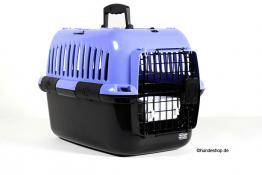 Hundebox Transportbox Dog Carrier IATA lila/schwarz