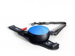 Lishinu 3 Handy Roll Hundeleine mit Full-STOP Knopf blau