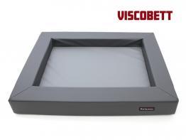 Relaxoo Viscobett Hundebett V2  -L- Duocolor stone/grau