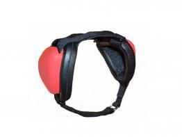 Mutt Muffs® Gehörschutz für Hunde -rot/schwarz-