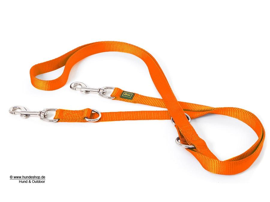 Hunter verstellbare Hundeleine Nylon Strong orange