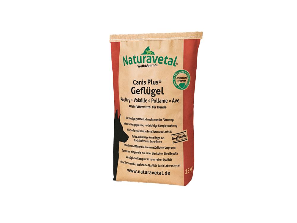 Naturavetal Canis Plus Hundefutter Geflügel und Reis