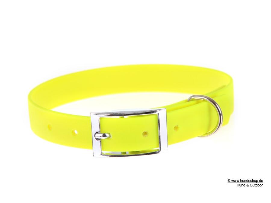 Relaxoo Biothane Hundehalsband neongelb 16mm breit