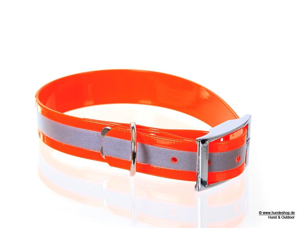 Relaxoo Biothane Reflex Hundehalsband orange 25mm breit