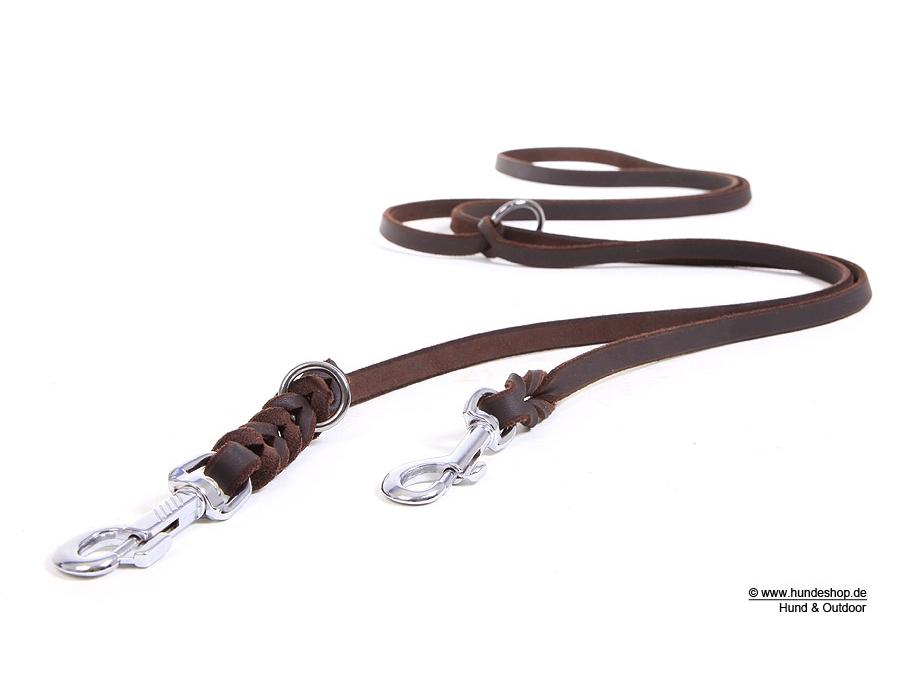 Relaxoo Fettleder 2-fach verstellbare Hundeleine Just Hundesport Edition