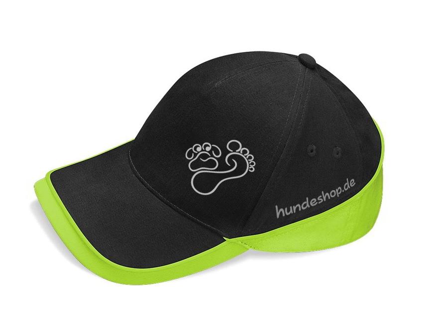 Hund & Outdoor CAP TEAM schwarz/lime
