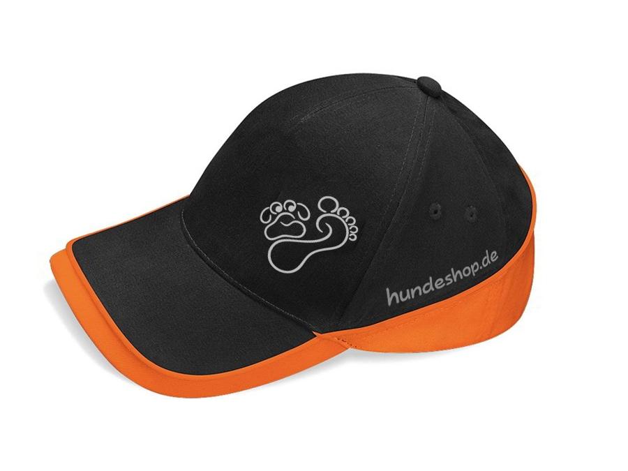 Hund & Outdoor CAP TEAM schwarz/orange