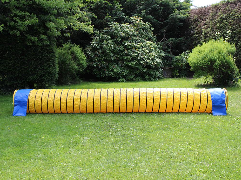 Hunde Agility Tunnel FCI konform gelb